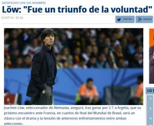 Löw, pensándose si demandar o no a la prensa deportiva hispana.